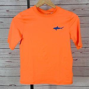 4/$25 NWT Cat & Jack orange rashguard shirt HUSKY